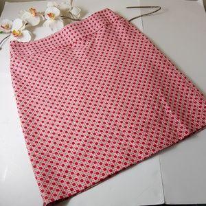 Talbots A line basket weave print career skirt